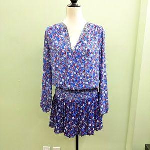 GAP blue floral school girl dress size medium